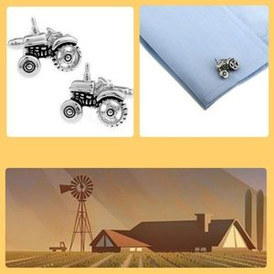 Other - Tractor Silvertone Cuff Links
